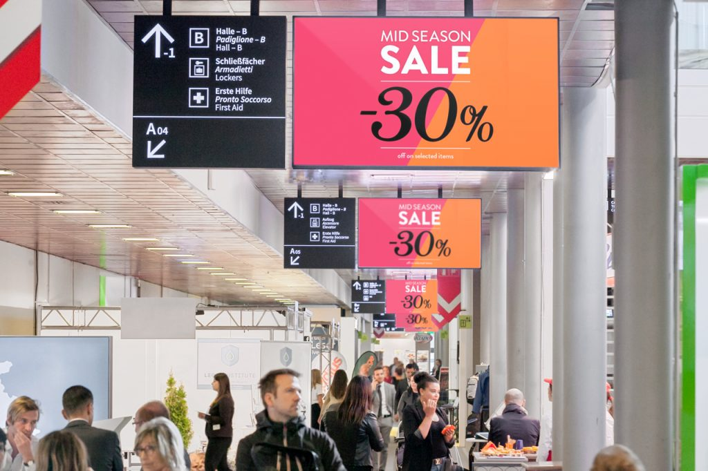 Digital Signage-Fiera Bolzano